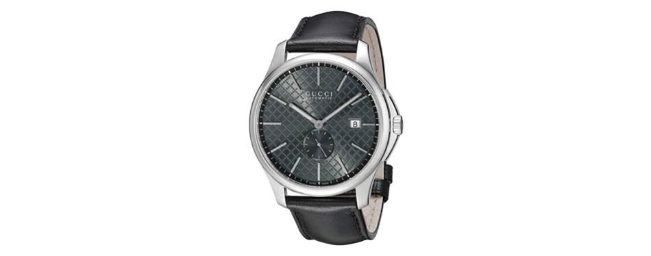 g-timeless analog black gucci watch