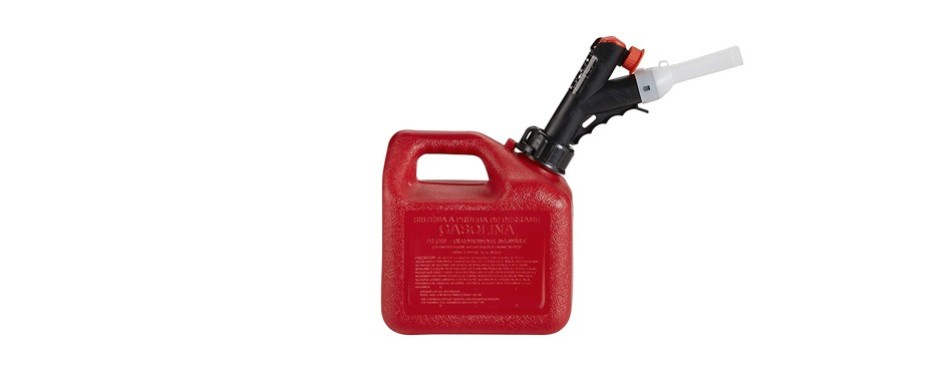 garageboss gb310 red 1+ gallon press 'n pour gas can