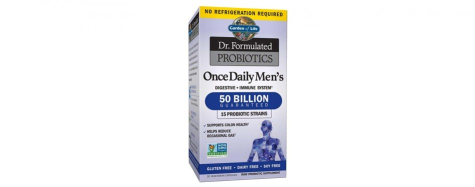 garden of life dr formulated once daily men's shelf stable probiotics