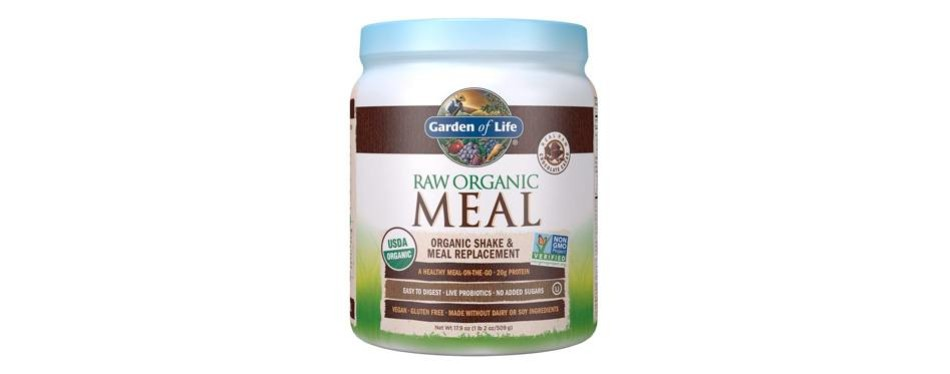 garden of life meal replacement protein powder: chocolate
