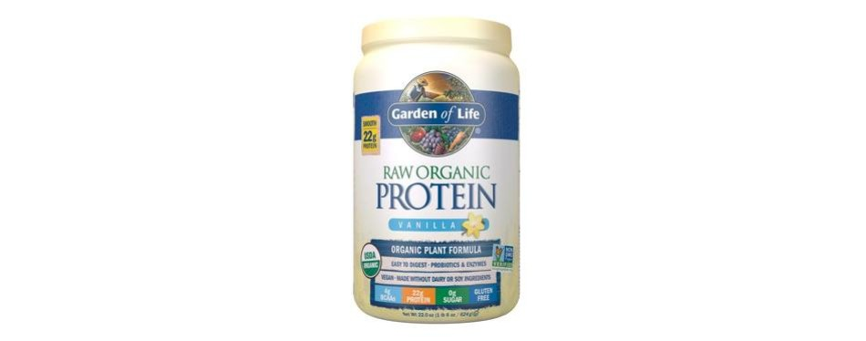 garden of life organic protein powder with vitamins and probiotics: vanilla