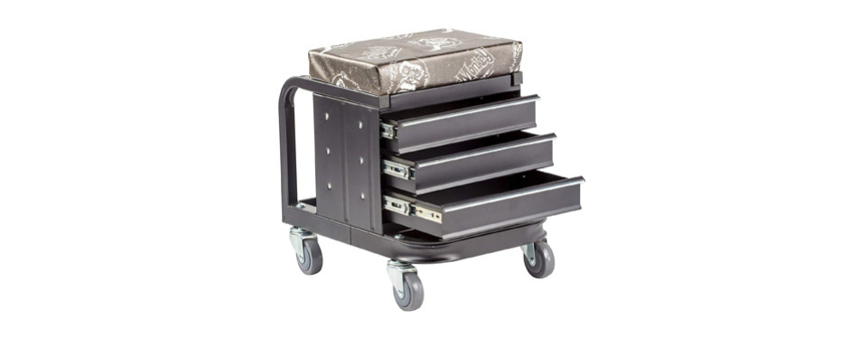 gas monkey creeper seat and tool box combo