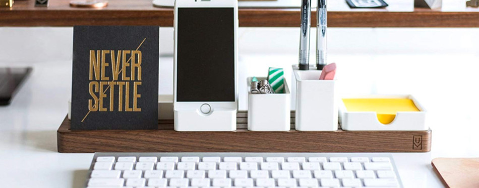 gather modular desk organizer tray