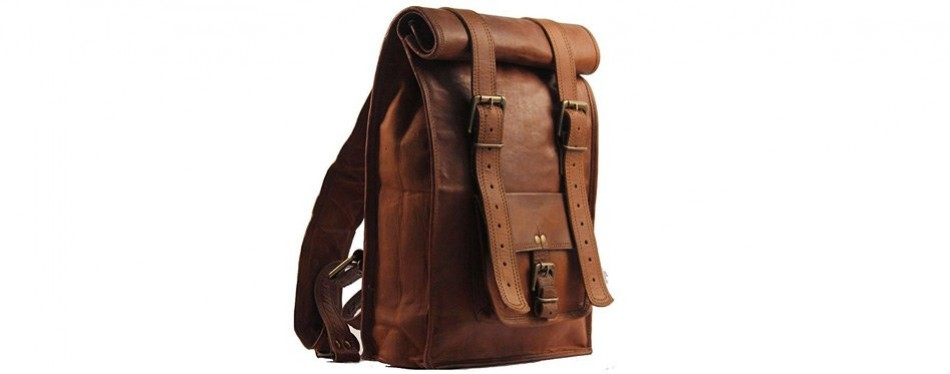 gbag's vintage roll leather pack
