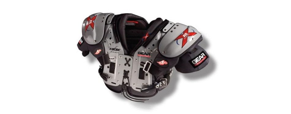 gear pro-tec x2 air x-sobf football shoulder pads
