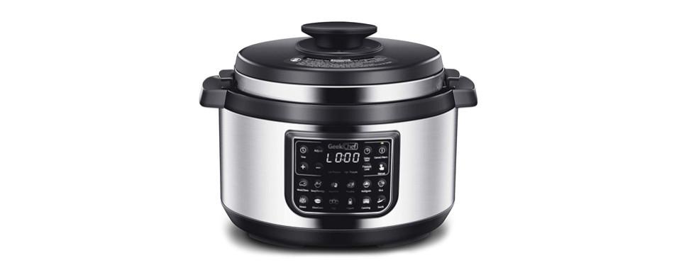 geek chef 8 qt oval electric pressure cooker