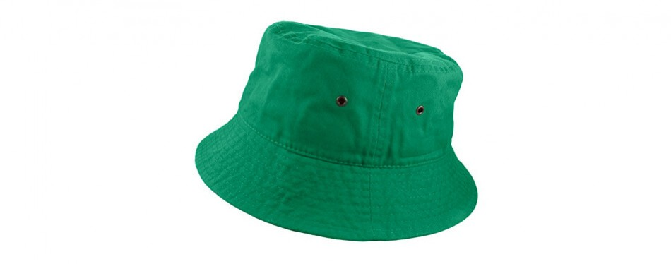 gelante 100% cotton packable fishing hunting summer travel bucket cap hat