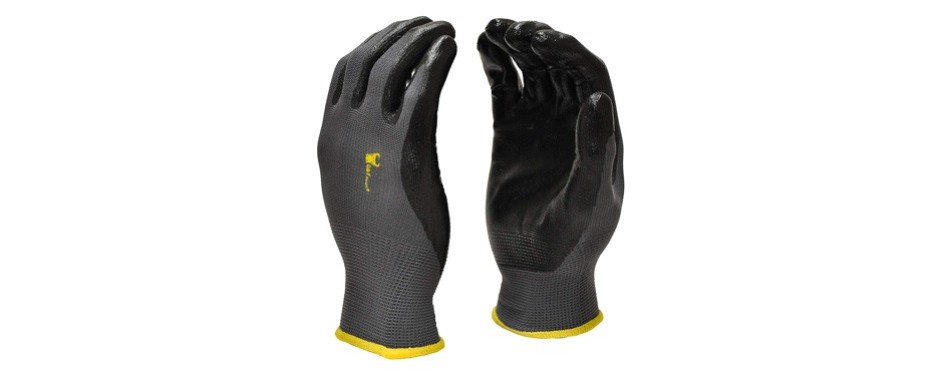 g&f nylon knit nitrile coated work gloves