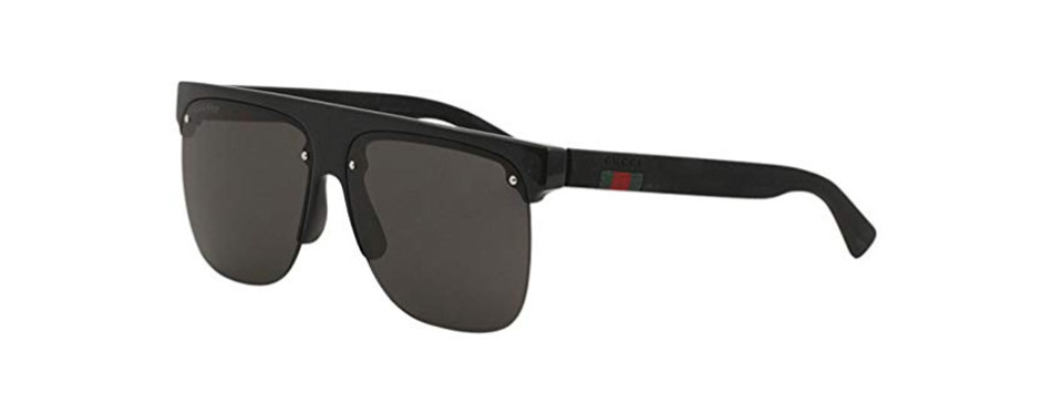 gg0171s 002 black and gray gucci sunglasses