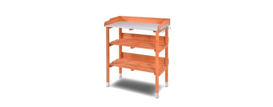 Terrific 5 Best Potting Benches In 2019 Buying Guide Gear Hungry Evergreenethics Interior Chair Design Evergreenethicsorg