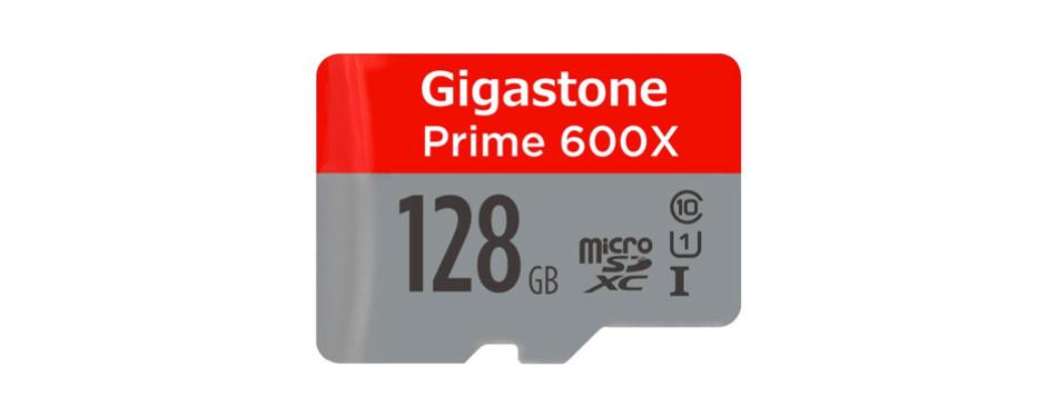 gigastone 128gb microsd class 10 card
