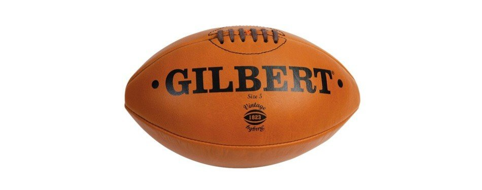 gilbert heritage leather rugby ball