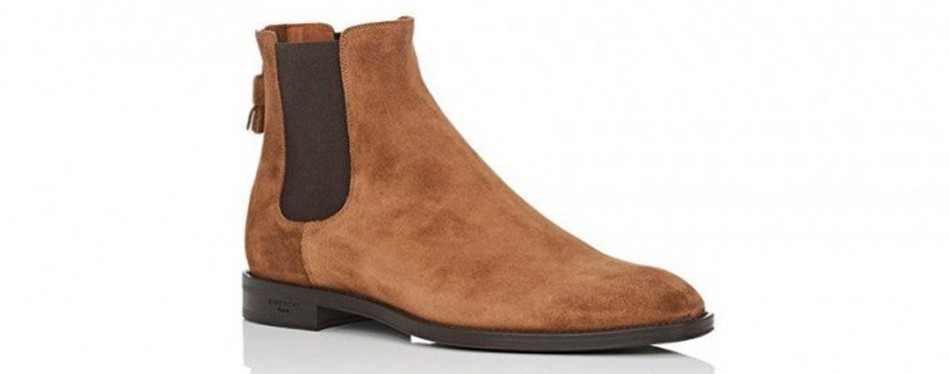 givenchy back-zip suede chelsea boots