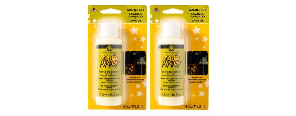 glo-away washable acrylic glow in the dark paint