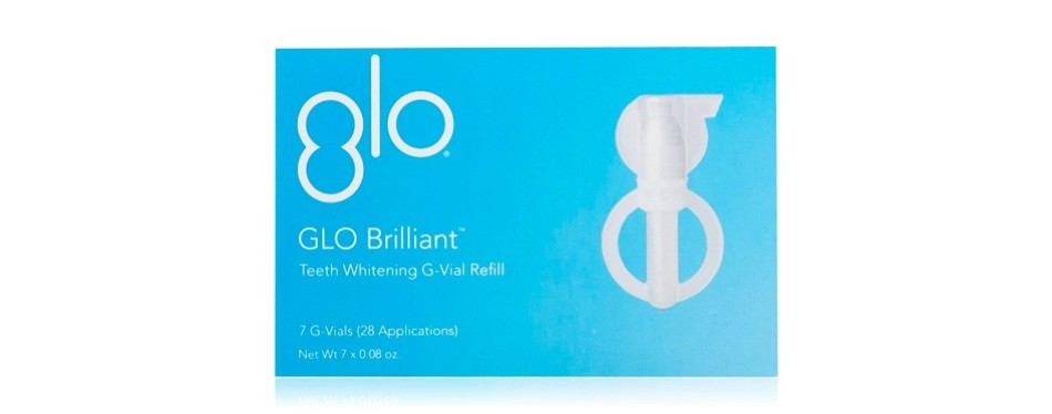 glo science brilliant teeth whitening kit refills
