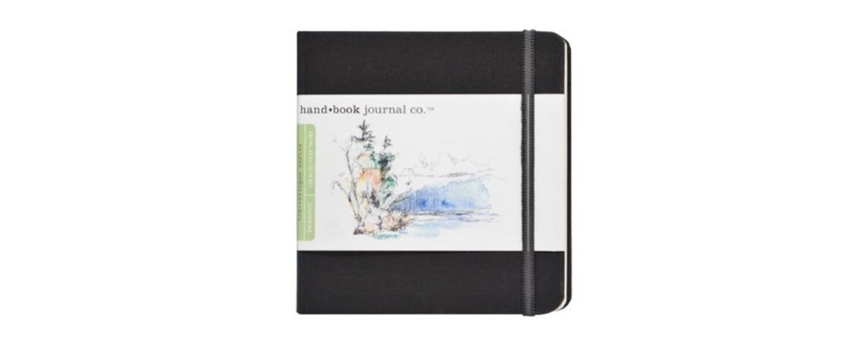 global art materials hand trav-e-logue drawing book artist journal