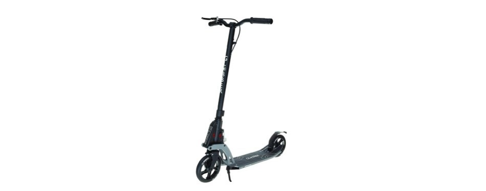 globber one k 180 adult folding scooter with handbrake