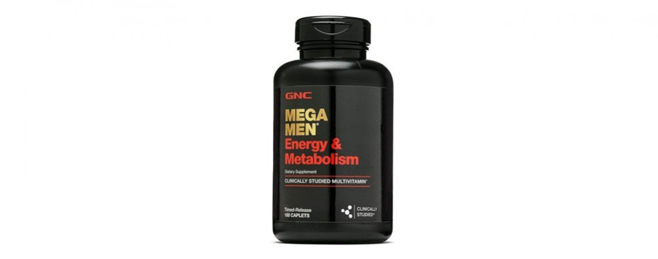 gnc mega men metabolism booster multivitamins for men