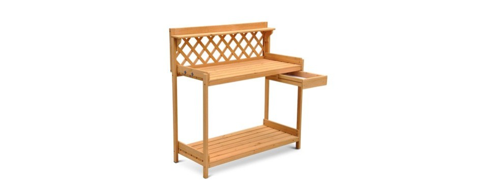 go2buy wooden potting bench