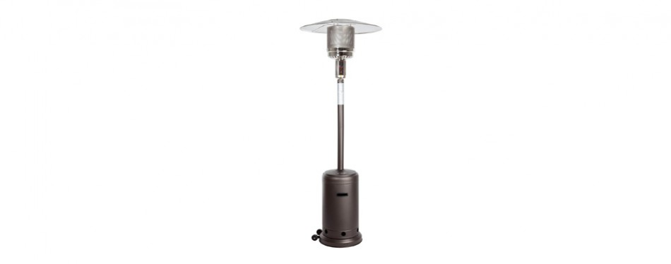 golden flame 46,000 btu [xl-series] mocha (matte finish) patio heater