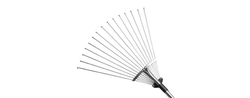 gonicc 63 inch professional adjustable garden leaf rake