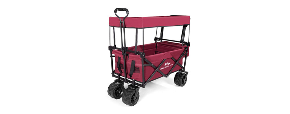 goplus collapsible folding wagon cart