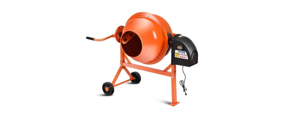 goplus electric cement and concrete mixer