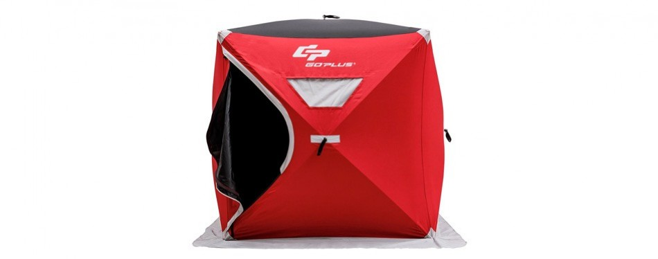 goplus portable pop-up ice fishing shelter