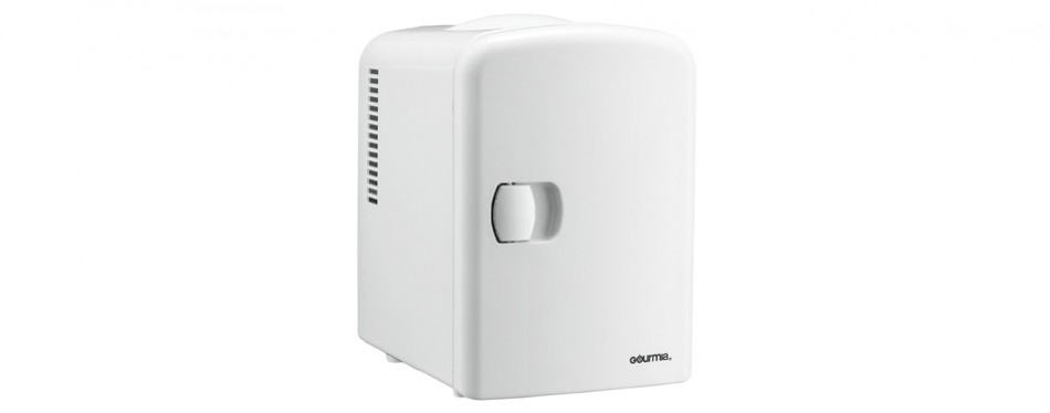 gourmia gmf600 thermoelectric cooler and warmer mini fridge