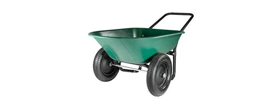 green thumb 70008 2 wheel poly wheelbarrow