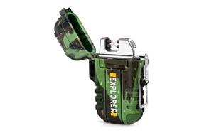 green vivid waterproof flameless electric lighter