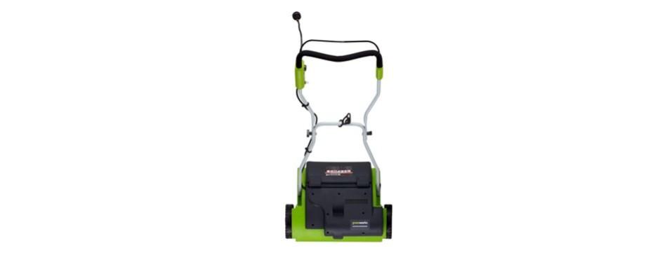 greenworks 14-inch 10 amp electric dethatcher