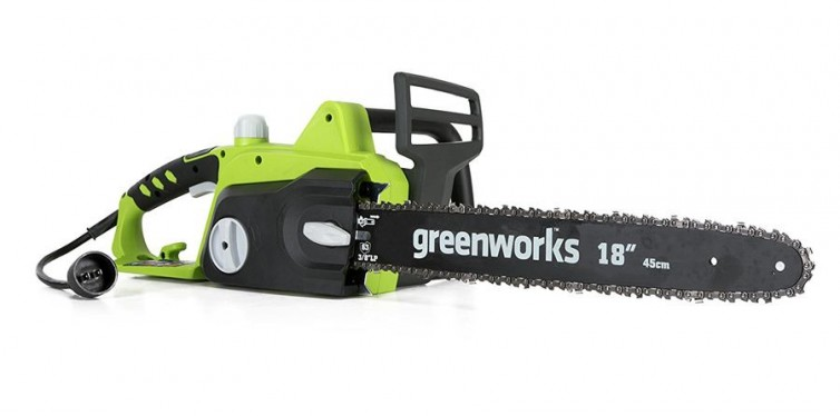greenworks 18-inch 14.5 amp corded chainsaw