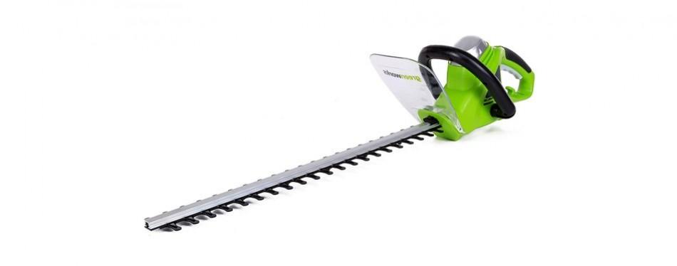 greenworks 22-inch 4-amp corded hedge trimmer
