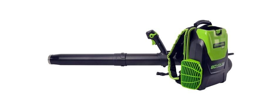 greenworks bpb80l00 80v 145mph - 580cfm cordless backpack blower