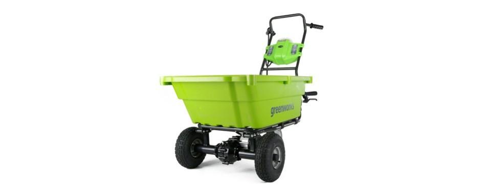 greenworks gc40l410 40v garden cart