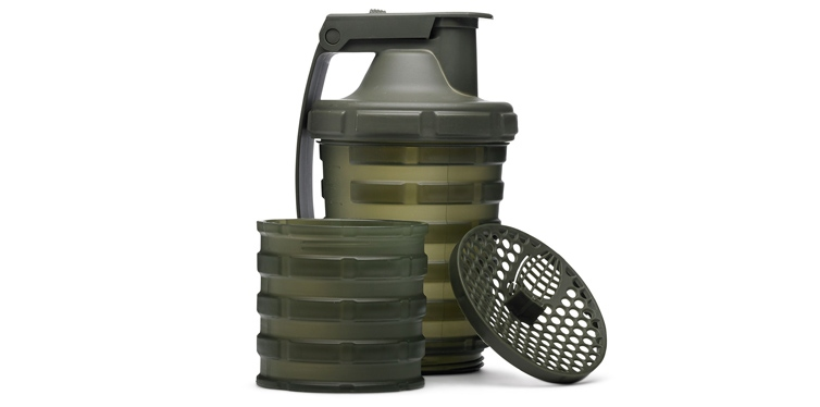Grenade Shaker with Protein Compartment