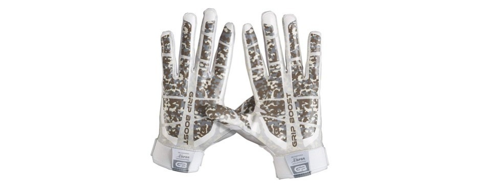 grip boost stealth pro elite football gloves