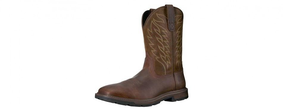 groundbreaker work boot in brown