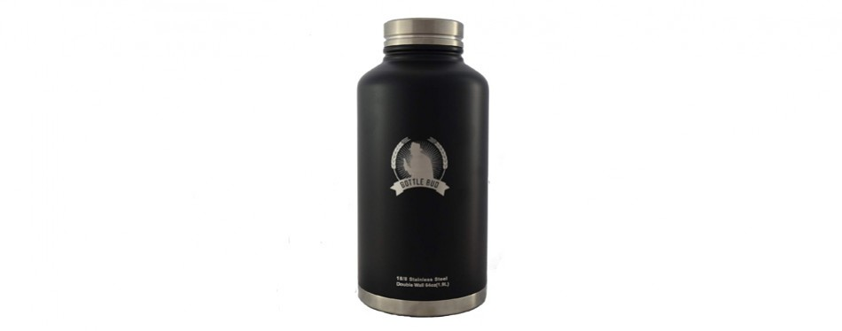 growler by bottle bud - stainless steel growler water bottle