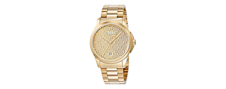 gucci dress gold-toned men's watch