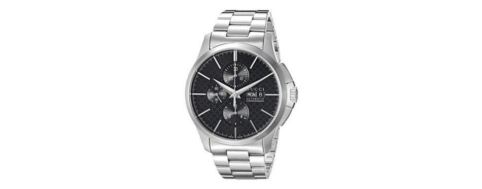 gucci g-timeless analog silver men's watch
