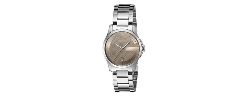 gucci 'g-timeless' silver-toned watch