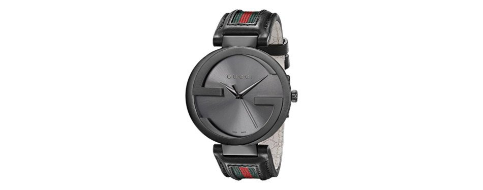 gucci interlocking iconic bezel anthracite men's watch