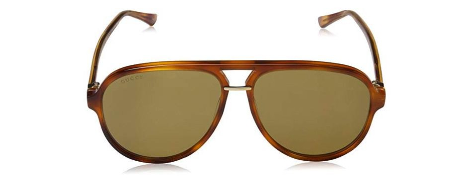 gucci men's retro aviator sunglasses