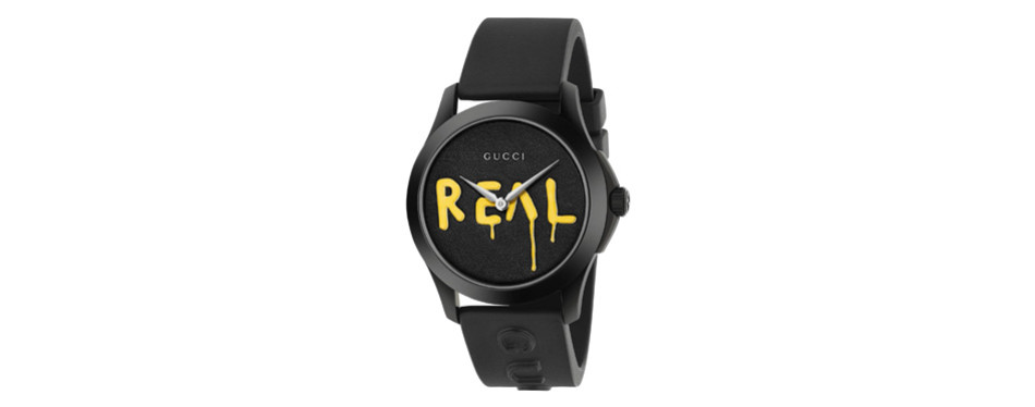 gucci real rubber strap fashion watch for men