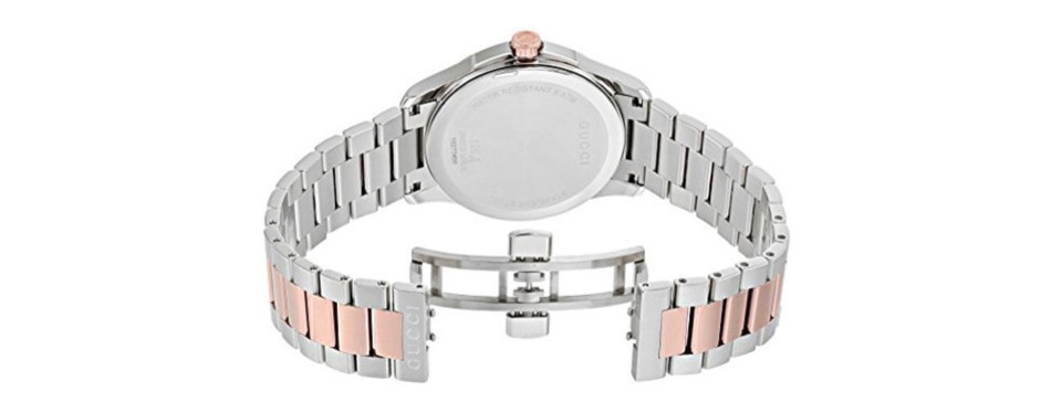 gucci stainless steel dress two-tone men's watch