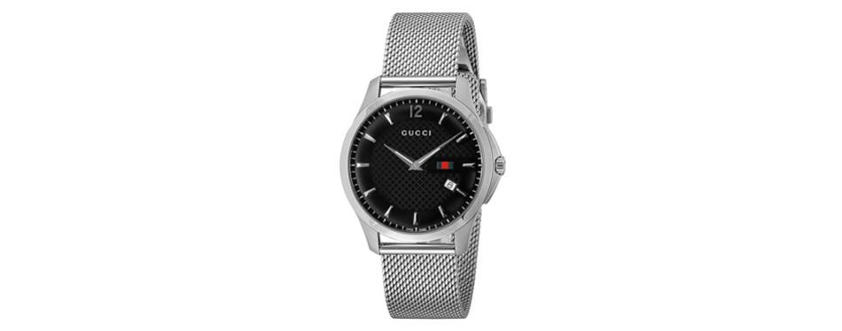 gucci wrist watch g-timeless black dial
