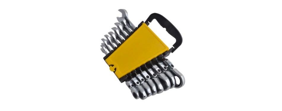 gunpla 8 pieces flexible head combination ratcheting wrench spanner set