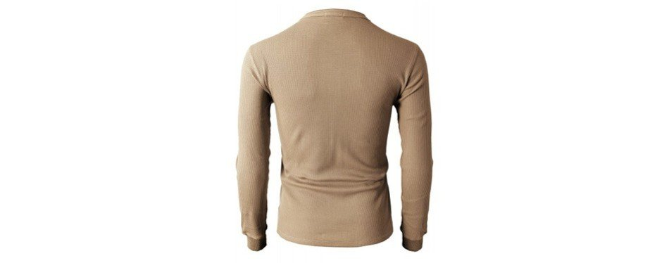 h2h casual slim fit long sleeve henley t shirt